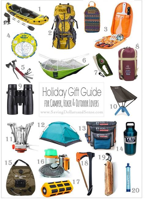 holiday gift guide for cers hikers and outdoors lovers