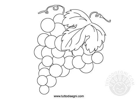 frutta uva da colorare tuttodisegnicom
