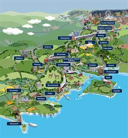 Map England Train Things Southwest Weymouth Travel