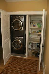Stackable Washer Dryer Closet