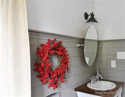 guest bathroom makeover reveal beneath  heart