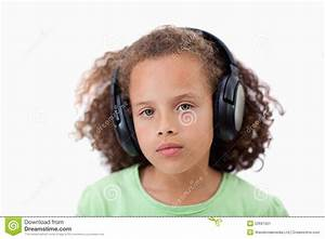 Calm Girl Listening To Music Stock Image - Image: 22691951