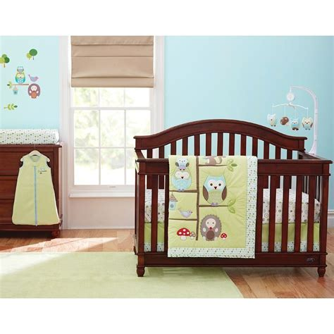 owl bedding crib just born babywise 6 crib set triboro babies