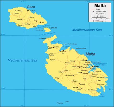 malta map  satellite image