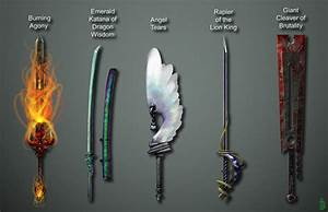 Fantasy swords in art