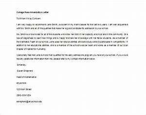 recommendation letter for student from teacher template - 12 letter of recommendation for student templates pdf