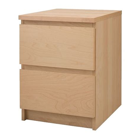 malm nightstand ikea malm chest with 2 drawers birch veneer 15 3 4x21 5 8 quot ikea