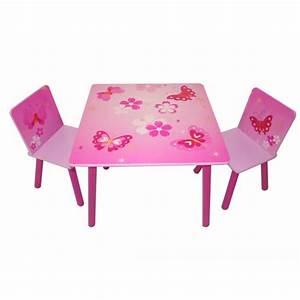 Table Et Chaise Enfant : table et chaise enfant papillon achat vente table et ~ Nature-et-papiers.com Idées de Décoration