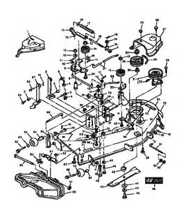 mower deck 46 quot diagram parts list for model 750256060 craftsman parts mower tractor