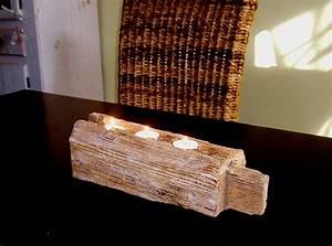 Tisch Aus Alten Balken : teelichthalter balken antik holz kerzenhalter windlicht ~ Michelbontemps.com Haus und Dekorationen