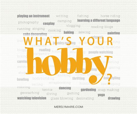 088 a hobby can add to your years make the