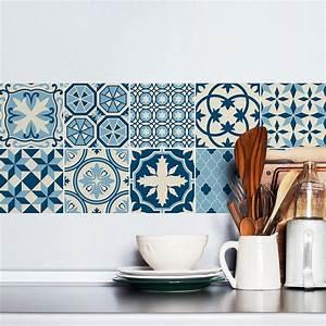 Stickers Carreaux De Ciment Cuisine : 9 stickers carreaux de ciment azulejos luana cuisine ~ Melissatoandfro.com Idées de Décoration