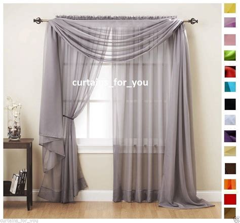 Voile Curtains by Voile Curtains Scarf Pelmet Valance 17 Colours Amazing For