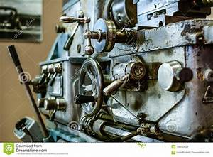 Old Lathe Machine Stock Photo  Image Of Maual  Industry