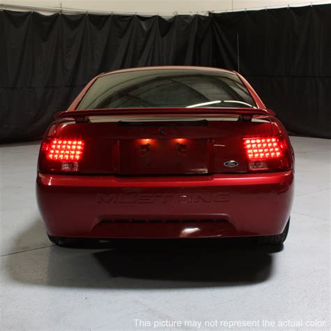 2004 mustang tail lights 99 04 ford mustang euro style led tail lights smoked 111