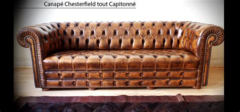 canape en anglais canapé chesterfield capitonné 3 places marron patiné