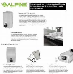 Alpine Industries 1200 Ml Vertical Manual Surface