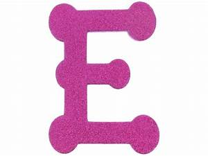 Pink foam letters clipart best for Pink glitter letters