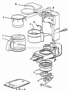 Mr  Coffee Prx33 Parts List And Diagram