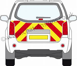 high visibility fluorescent vehicle chevron graphics for With fluorescent vinyl lettering