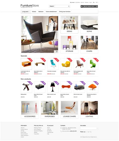 comfortable furniture magento theme 47096