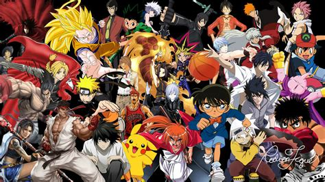 Anime Compilation Wallpaper - anime collage by rodiontigue on deviantart