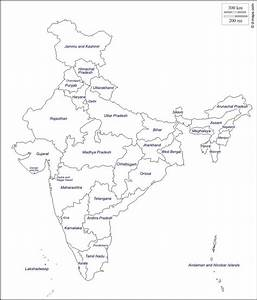 India Map Outline With States