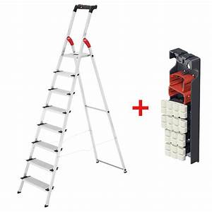 Hailo Leiter 8 Stufen : hailo l80 comfortline alu stehleiter 8 stufen inkl wechselfu set leiter ebay ~ Buech-reservation.com Haus und Dekorationen