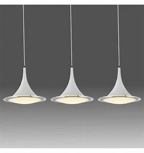 Suspension Luminaire En Verre Transparent : suspension blanche triple lumi re led design sydney ~ Teatrodelosmanantiales.com Idées de Décoration