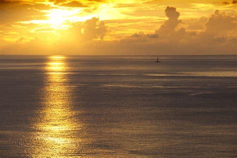 wallpaper seascape summer sunset   nature