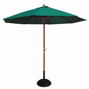 Cozy Bay 25m Green Parasol With Crank Greenhouse Stores
