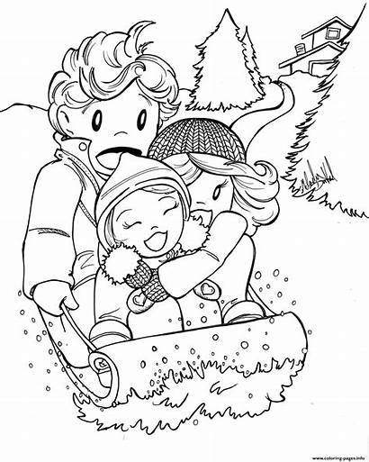 Coloring Fun Winter Pages Printable
