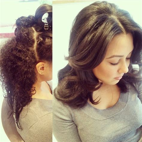 blow dry  extra curly hair  curly  loose curls