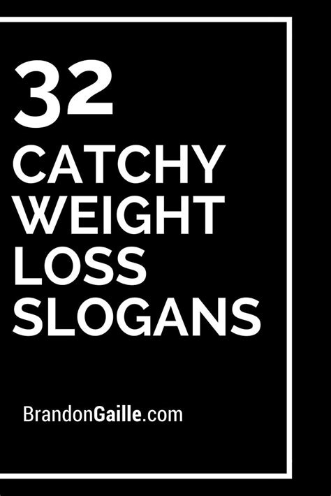 catchy weight loss slogans  taglines weights