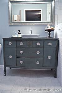 Commode De Salle De Bain : repurposing our dining room buffet into a bathroom vanity ~ Dailycaller-alerts.com Idées de Décoration