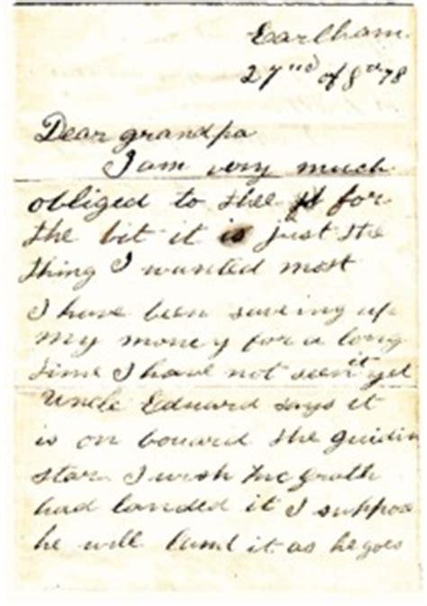 letter  grandpa  howard  edith cotton