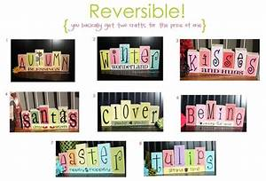reversible block letter crafts this site is wonderful With vinyl block letters