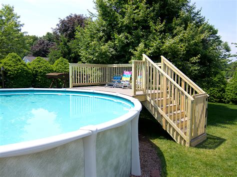 Above Ground Pool Steps Wood by Wood Above Ground Pool Ladders With Small Deck Pools For