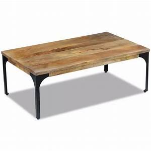Table En Manguier : la boutique en ligne vidaxl table basse bois de manguier 100 x 60 x 35 cm ~ Teatrodelosmanantiales.com Idées de Décoration