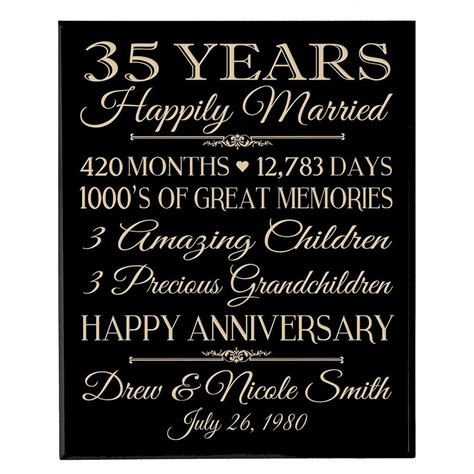 wedding anniversary wall plaque personalized