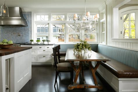 bench seating kitchen Kitchen Transitional with banquette built in seating   beeyoutifullife.com
