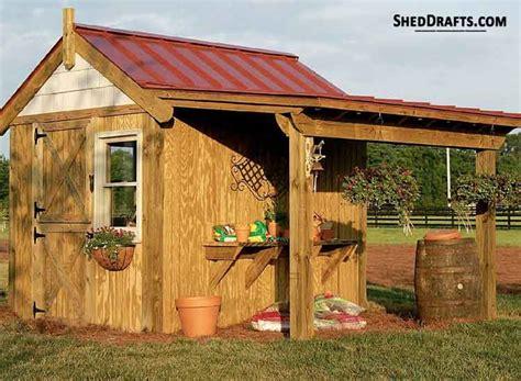 potting shed porch plans blueprints  constructing