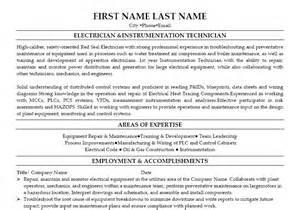 instrumentation technician resume exles electrician instrumentation technician resume template premium resume sles exle