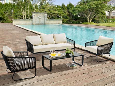 canap de jardin aluminium salon de jardin envigado en métal et corde canapé 3