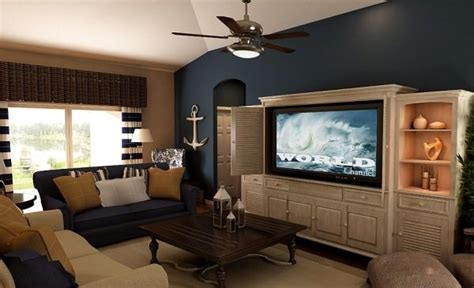Nautical With Blue Accent Wall. Living Room In Our Ideas To Organize A Small Bedroom 1 Apartments In Tucson Az Two Apts For Rent Light Fixtures One Pittsburgh Pa 5 Vacation Homes Kissimmee Fl New Canopy King Set