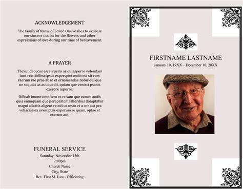 funeral program templates word photoshop
