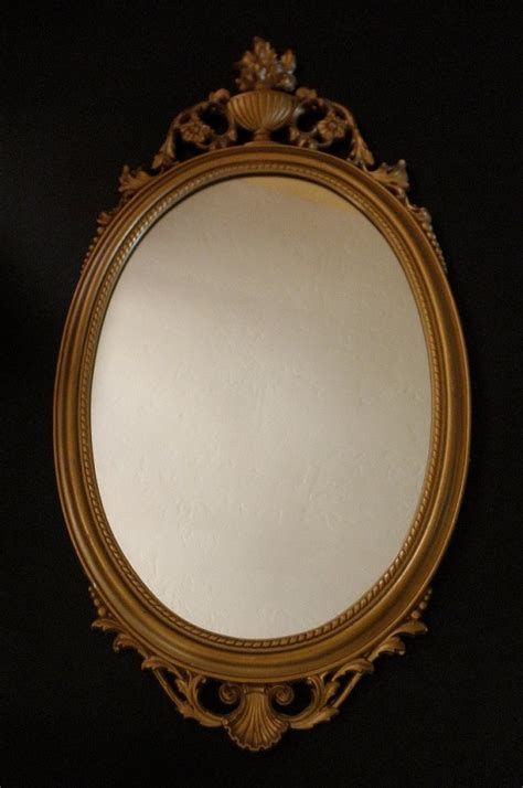 vintage syroco decorative framed mirror   baroque floral gold shabby chic