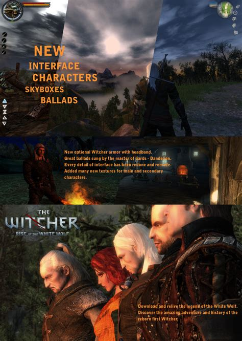 the rise of the white wolf enhanced edition mod for the witcher mod db