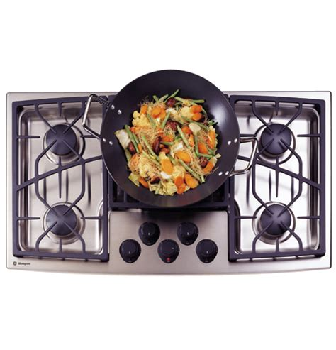 zgunsdss ge monogram  stainless steel gas cooktop natural gas  monogram collection