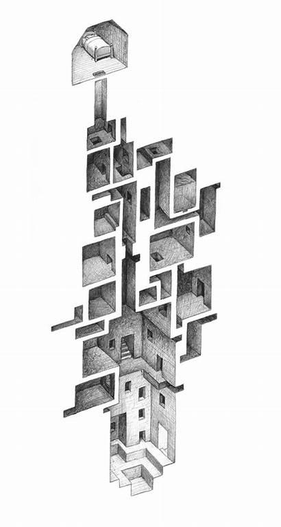 Drawings Mathew Borrett Architecture Drawing Series Rooms